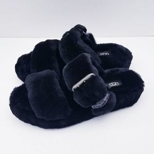 Ugg Fuzz Yeah Slip On Slippers Size 7 Black